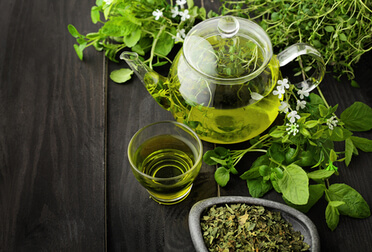 Green Tea kettle image