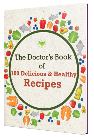 The Doctor's Book of 100 Delicious Healthy Recipes Cover